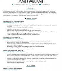 Preschool Teacher Resume Sample Resumelift Com Pre K Lesson Plans