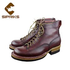 sipriks norwegian sewn ankle boots italian custom goodyear welted boots for men leather sole with thick rubber round toe boots