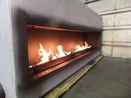 test fire custom linear gas fireplace