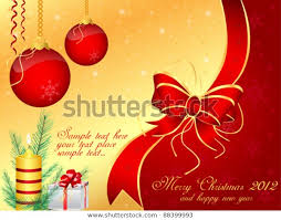 Vector Merry Christmas Background Template Set Stock Vector