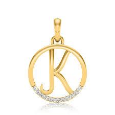 letter k diamond pendant product