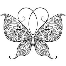 Profile of a butterfly with flowers. 11 Best Free Printable Butterfly Coloring Pages For Kids