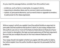 unpacking the sat essay prompt article khan academy explain how the author builds an argument to persuade the audience