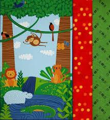 Easy Fabric Panel Quilt Kit Bright Rainforest Fun Kids Quilts ... & Easy Fabric Panel Quilt Kit Bright Rainforest Fun Kids Quilts Animals 32 Adamdwight.com