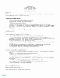 Phlebotomy Resume No Experience Awesome Phlebotomist Resume Examples