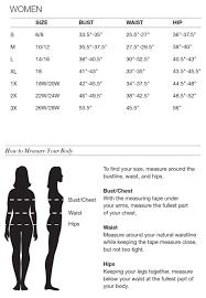 Avon Bra Size Chart Avon Clothing Size Chart Kims Beauty Haven