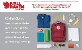 Fjallraven Us Size Chart Fjallraven Kanken Classic Backpack For Everyday