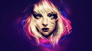 Woman's face portrait 3D wallpaper ...