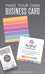 Make Your Own Business Card Design Make Your Own Business Card And Other Marketing Items To