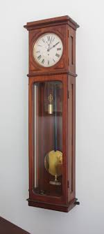 item id 2120 lenzkirch precision regulator clock mahogany case with original finish is 58 tall 16 wide and 8 deep the silvered dial is 10 in