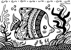 Disegni Di Pesci Da Stampare E Colorare Gratis Portale Bambini