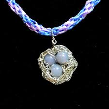 wire wrapped birds nest ihimo