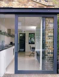 sliding patio door exterior. Doors, Glass Sliding Doors Exterior Patio With Built In Blinds Black Framed Door I