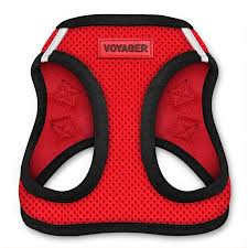 Voyager Harness Size Chart Voyager All Weather Step In Mesh Harness For Dogs By Best Pet Supplies Red Base X Small