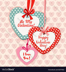 Valentine Day Heart Shaped Greeting Card Design