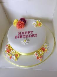 Simple Flower Birthday Cake My Cake Creations Birthday Cake With