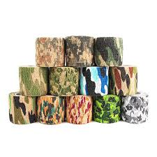 <b>Self adhesive telescopic</b> camouflage <b>Non woven fabric</b> outdoor tape ...