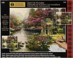 paint by number thomas kinkade the garden of prayer