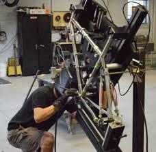 custom bicycle manufacturer fabricates titanium ferrous materials