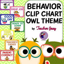 Owl Behavior Clip Chart Owl Theme Behavior Chart Classroom Themes Owl Theme