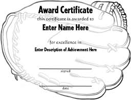 Softball Award Certificate Template - Unofficialdb.com