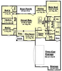 3 bedroom 2 bath house plans 1 story no garage new european style house plan 3