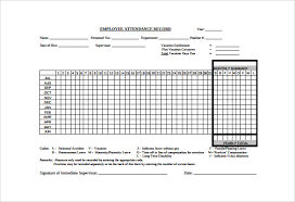 Attendance Tracker Free Attendance Tracking Samples Examples Templates 10 Documents In Pdf