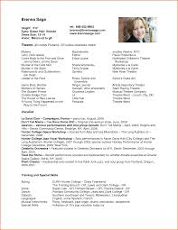 Actors Resume 100 Actor Resume Template Job Resumes Word 32