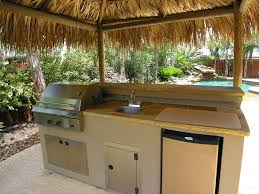 kitchen best outdoor kitchen small space with sink and refrigerator on the pool smart and