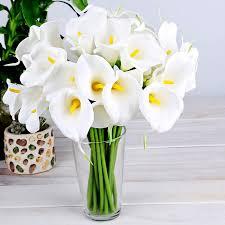 Купить 10 шт. белый обвинение позвонить цветок Lily wade новейший букет  украшения для дома партия декор обвинение цветок gf370 в интернет-магазине  с бесплатной доставкой из Китая, низкие цены   Nazya.com
