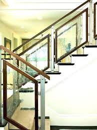 glass stair railings for stairs interior railing kit amazing kits regarding cost uk glass stair railings