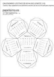 Calendarios Para Imprimir 2015 Calendario Escolar 3d 2014 2015 Parte 1