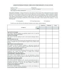 Employee Evaluation Template Mesmerizing Sample Employee Evaluation Forms Form Template Maker Word