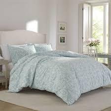 flannel comforter set laura ashley kensington scroll blue free 7
