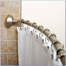 polished nickel contemporary fixed shower curtain rod bronze ideas gold contemporary u shape modern l shaped suspended permanent popular