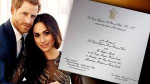 See inside st george's chapel, windsor castle, where the wedding will take place on 19 may. Meghan Markle And Prince Harry S Royal Wedding Invitation Revealed