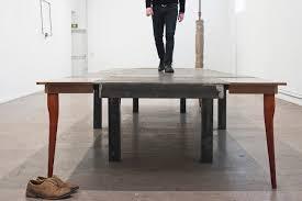 francesco arena mare della tranquillità 2018 metal madera 500 x 178 x 75 cm y acción foto martin argyroglo cortesia galleria raffaella cortese