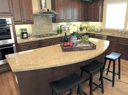 Kitchen Island With Granite Top Rounded Granite Counter Top Kitchen Island Nice Ideas