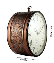 ddasswc10cenglishman double sided antique brass wall clock