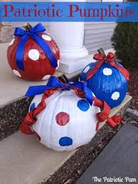patriotic pumpkins fun how to s with painting pumpkins