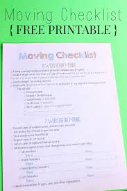 Printable Moving Checklist Canada Download Them Or Print
