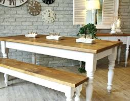 farmhouse table with bench and metal chairs amazing pictures ideas farmhous