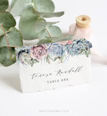 Place Card Holder Template Succulent Place Card Template Instant Download