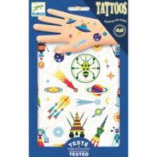 Dětské Svítící Tetování Veselý Vesmír