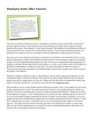Thank You After Funeral Thankyou Notes After Funeral