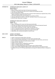 Research Assistant Resume Sample Temporary Research Assistant Resume Samples Velvet Jobs 33