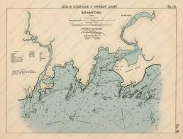 Branford Ct Colored Nautical Chart