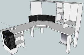 home office gaming computer. L Shaped Gaming Computer Desk Blkfxxs Build Home Office Desks Collection In Original See