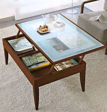 wood and glass coffee table with drawers modern coffee tables rectangle ancient leather storage black ott
