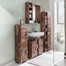 Badezimmermöbel Set Visella In Holzpaletten Optik Modern